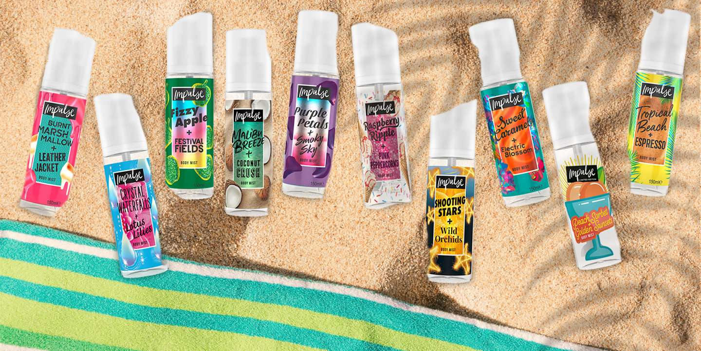 Impulse body mist banner
