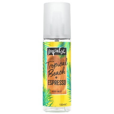 Impulse Tropical Beach + Espresso Body Mist 150ml